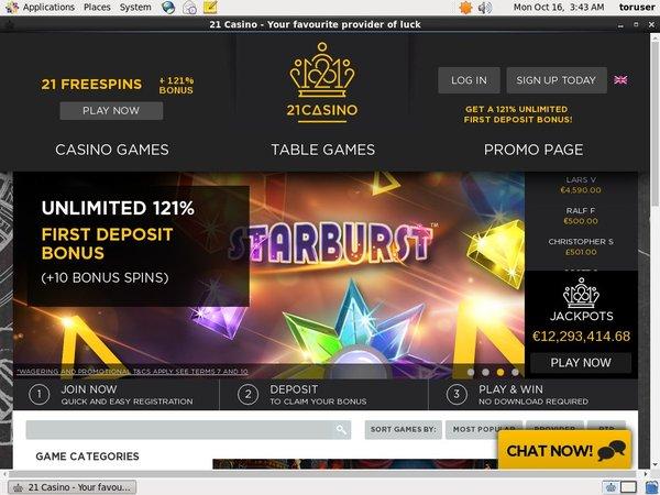 21 Casino Erfahrungen