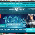Platin Casino Deposit Code