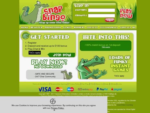 Snapbingo First Deposit Bonus