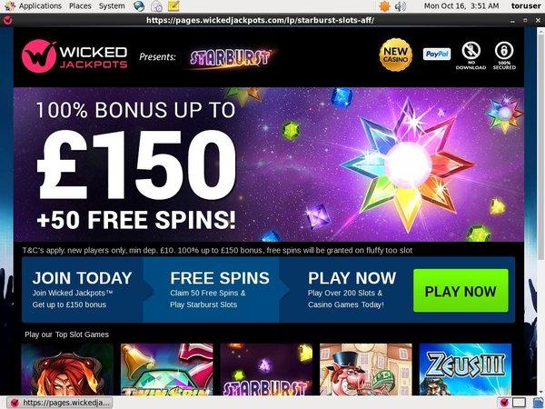 Wicked Jacpots New Customer Bonus