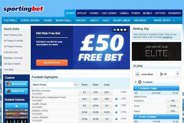 Sporting Bet UK Register Form