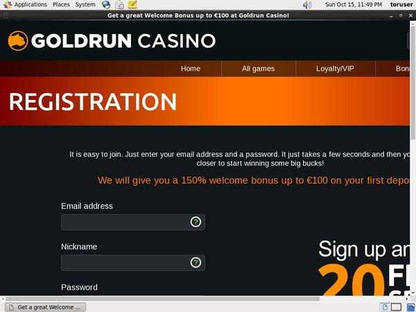 Goldrun Bonus No Deposit