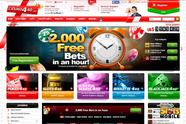 Casino 440 Bonus Spins