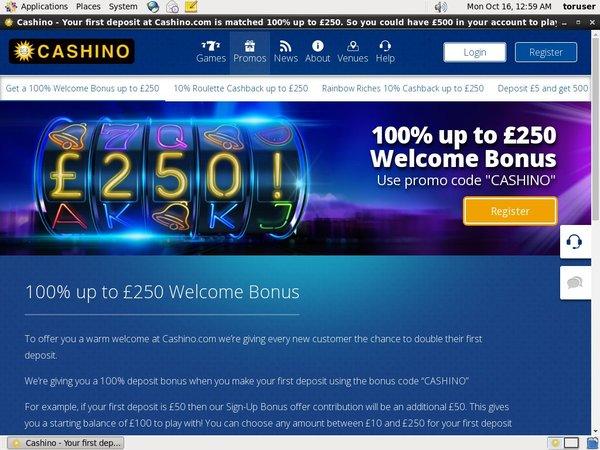 Cashino Spil Bonus