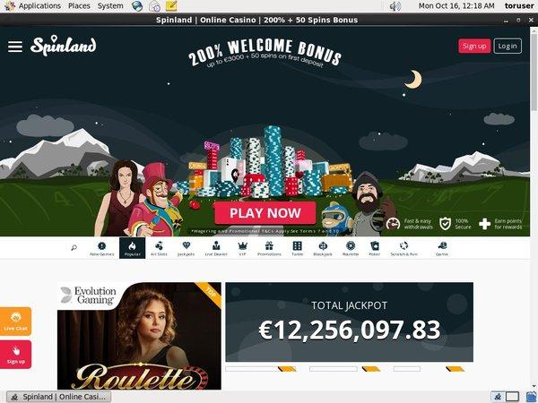 Spin Land Website