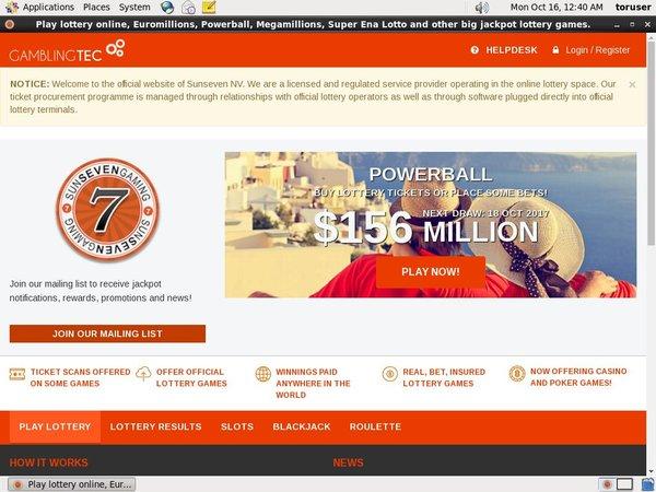 Bet Sun 7 Lottery