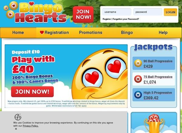 Bingo Hearts No Credit Card