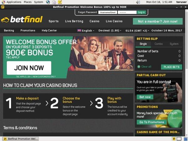 Betfinal Offers