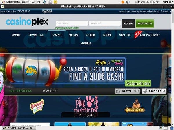 CasinoPlex Upgrade Account