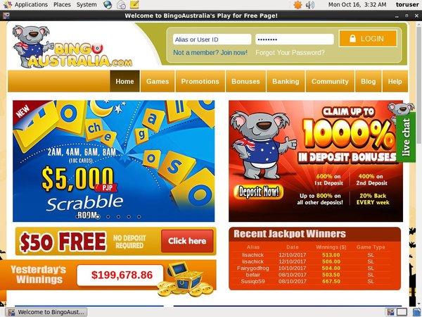 Bingoaustralia Mobil Casino