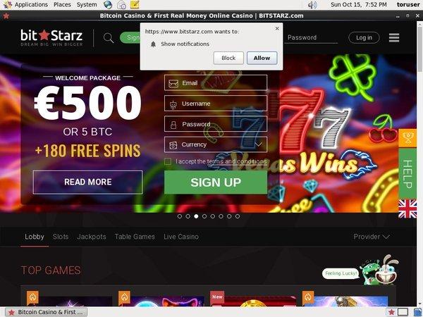 Bit Starz No Deposit Casino