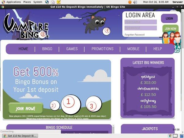 Vampire Bingo Pay By Options